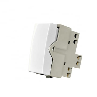 MODULO INTERRUPTOR PULSADOR SLEEK BRANCO