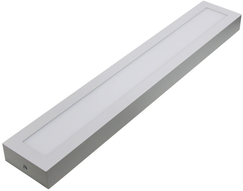 PLAFON LED SOBREPOR RETANGULAR 48W 15X120CM BRANCO FRIO 6500K