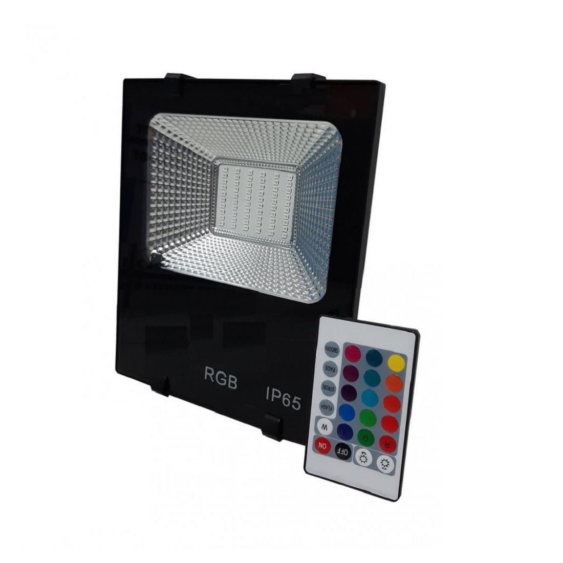 REFLETOR LED 50W RGB C/CONTROLE BIVOLT HARMONY
