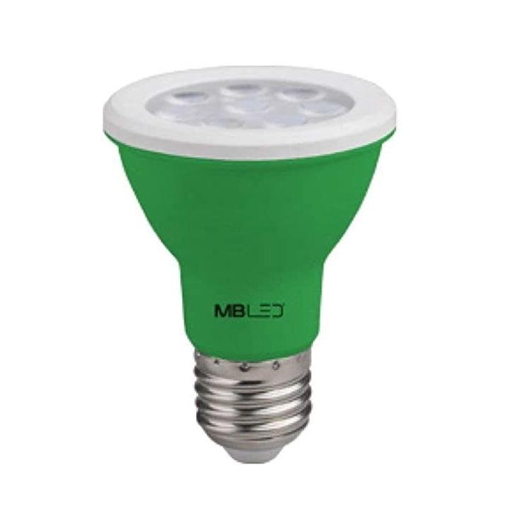 LAMPADA PAR20 LED 8W BIVOLT VERDE MBLED