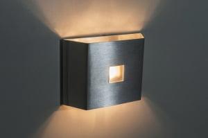 ARANDELA INTERNA ALUMÍNIO 140X100MM PARA 01 LAMPADA G9