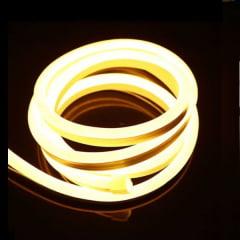 FITA LED NEON 127V 9,6W POR METRO BRANCO QUENTE 3000K KIT 20 METROS
