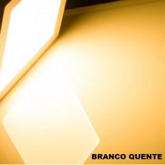 PLAFON EMBUTIR QUADRADO LED 18W 22X22 BRANCO QUENTE 3000K