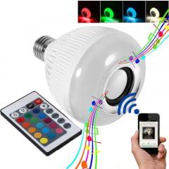 LAMPADA CAIXA DE SOM LED  12W LED RGB CONTROLE