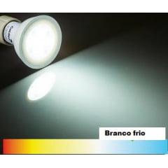 LAMPADA DICROICA LED 4,5W BIVOLT BRANCO FRIO