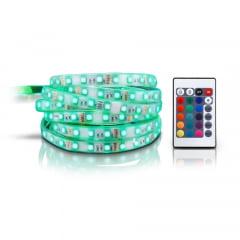 FITA LED RGB COLORIDA ROLO COM 5 METROS COMPLETA