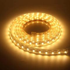 FITA LED SMD 3528 BRANCO QUENTE 3000K 4,8W/M IP20 5 METROS CTB