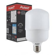 LAMPADA LED ALTA POTENCIA 20W BIVOLT BRANCO FRIO 6500K AVANT