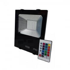 REFLETOR LED 20W RGB C/CONTROLE BIVOLT HARMONY